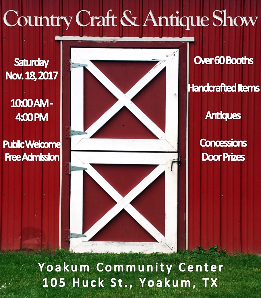 2017 Craft Show flyer